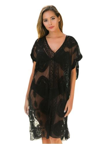 LYCKA black LTH4172-European Style Beach Casual Outer Dress-Black 11307US271C7CEGS_1