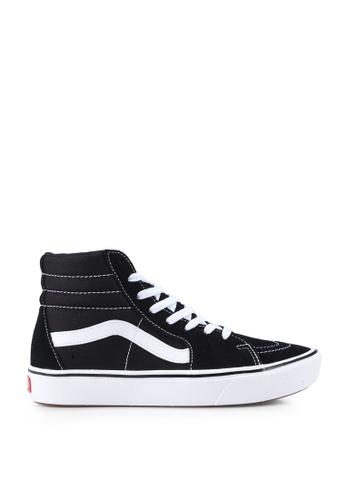 VANS black and white ComfyCush SK8-Hi Classic Sneakers 14BC7SH80C357FGS_1