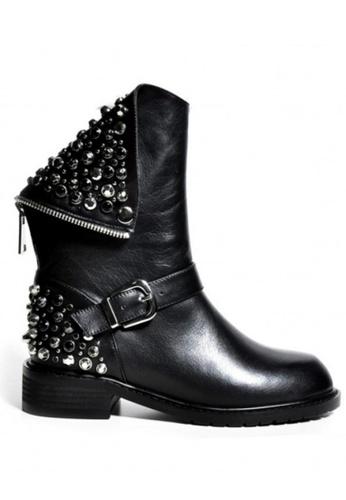 Sunnydaysweety 黑色 易搭款式黑色閃石靴 CA010605 16FA0SHB51ED26GS_1