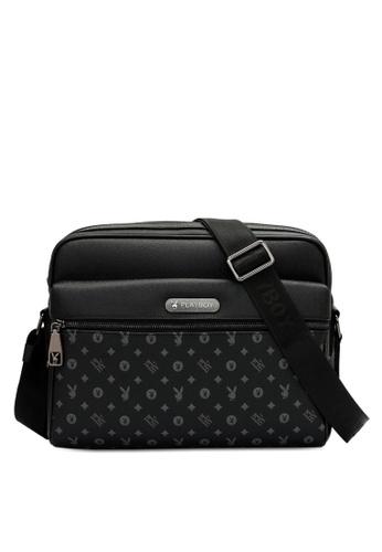 Playboy black Logo Messenger Bag 5A320AC95F6325GS_1