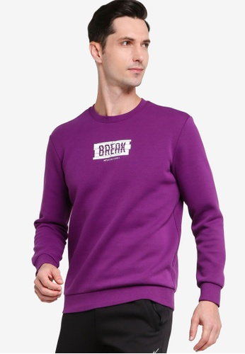 361° purple Basketball Series Turtleneck Sweater 6FCEEAAEE042EFGS_1