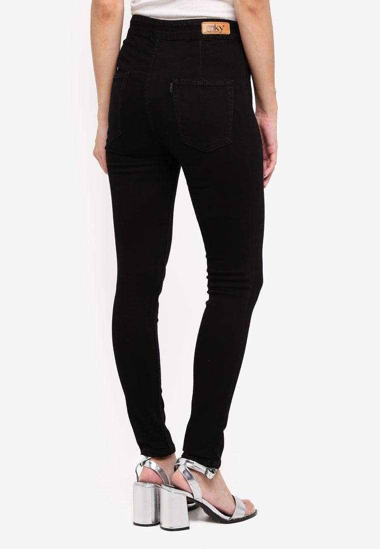 Jeans Highwaist MKY Black No Clothing Pocket Skinny qRRrt6T