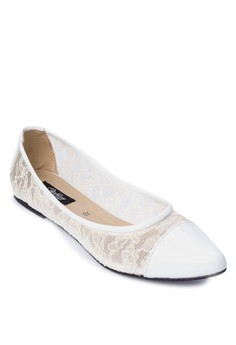Lovie Pointed Lace Ballerina Flats