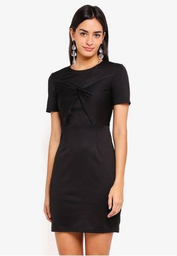ZALORA black Twist Front Pencil Dress E6E99AAA77676CGS_1