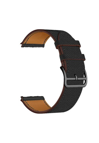 Kings Collection black Black Leather Apple Watch Band 38MM / 40MM (KCWATCH1079) 0B4EDAC68408C5GS_1