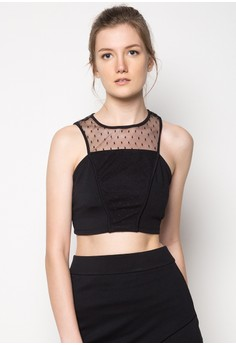 Rebel Structured Cropped Top