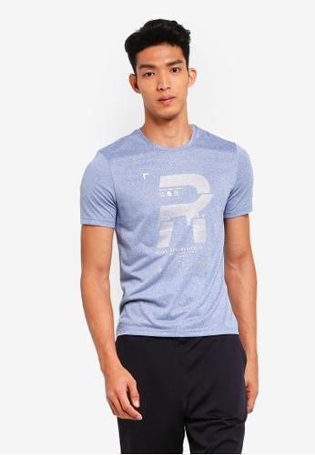 Reebok 藍色 短袖慢跑T恤 E9FE6AA0D49AFDGS_1