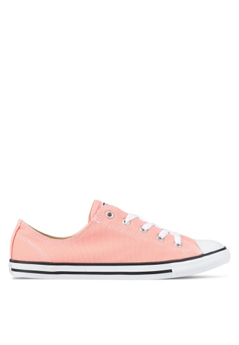 Converse black and white and pink Chuck Taylor All Star Dainty Sneakers CO302SH0SXV4MY_1