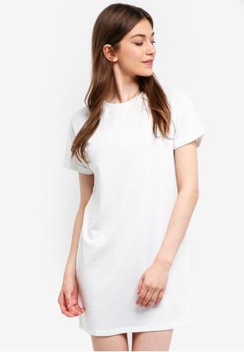 Something Borrowed white Zip Trim Raglan Tee Dress 8414DAA12C309EGS_1
