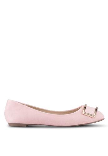 VINCCI pink Round Toe Flats VI831SH0SY46MY_1