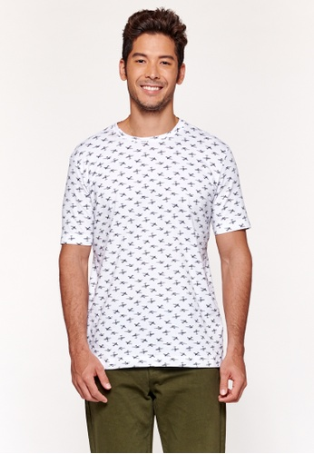 United Colors of Benetton white Printed T-shirt 64D69AAE1AC116GS_1