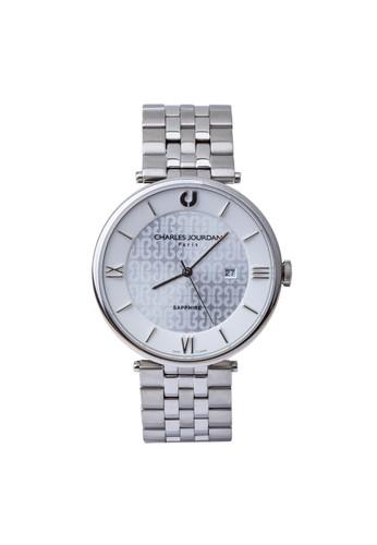 Charles Jourdan silver Charles Jourdan CJ1008-1313 - Jam Tangan Pria - Silver 61C91AC89BF2FEGS_1