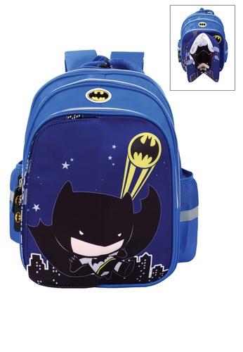 DC Comics blue Justice League School Bag B37B2KCF8ED704GS_1