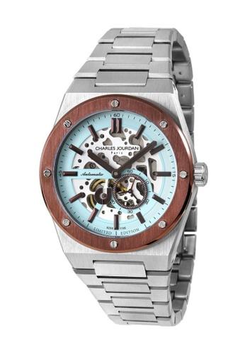 Charles Jourdan silver Charles Jourdan Patron Mechanica Men Watch Limited Edition CJ1105-1392LE 09F94AC54E9FE4GS_1