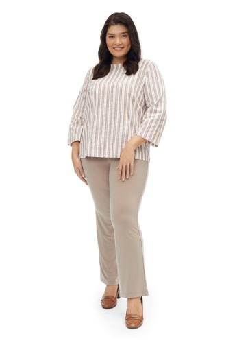 MS. READ beige Essential Straight Cut Pants, - 6 Sizes (Beige) 652B1AA1B299A5GS_1