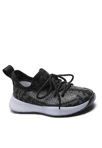 Twenty Eight Shoes black VANSA Luminous Knitted Sneaker VSK-T12 DE690KS126D24EGS_1