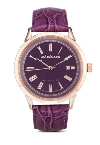 Heritage 羅馬數字皮革手錶, 錶類, esprit台灣outlet飾品配件