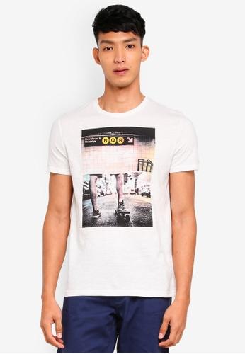 OVS 白色 短袖印花T恤 9D8B1AAD20F252GS_1