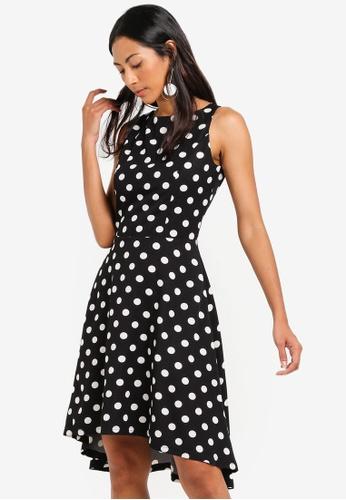 ZALORA BASICS black Basic Dipped Hem Dress D280AAA9A9156FGS_1