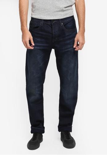 Superdry 藍色 休閒直筒牛仔褲 SU137AA0T22DMY_1