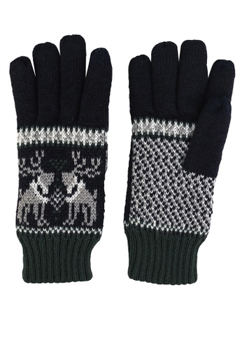 GLOBAL WORK black Classic Knit Gloves 89CFDAC17537BCGS_1