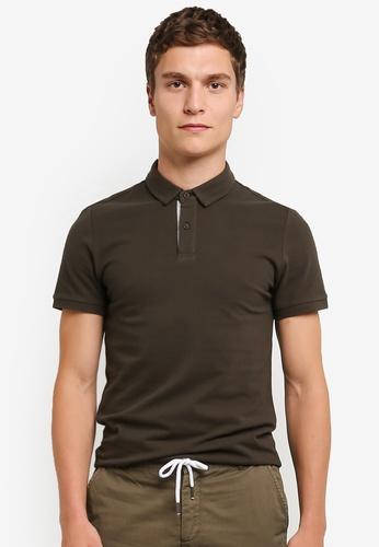 ZALORA green Contrast Placket Polo Shirt 461A8AA0BA1DC5GS_1