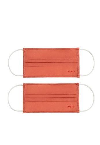 Mango orange 2 Pack Reusable Homologated Facemask 8D218ES1AEDF09GS_1