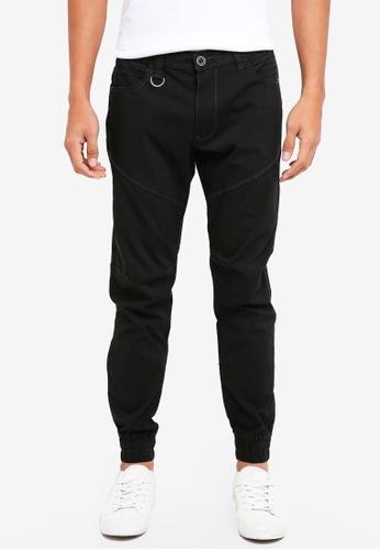 SPARROW GREEN black Flyweight Jogger Pants 8B4D1AA4AB6E7DGS_1