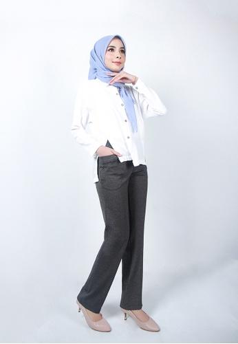 Ladies Jeans grey Straight Leg Suit Pant 8156CAA4F85218GS_1