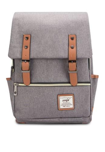 拼色多口袋旅行後背包、 包、 包Bagstationz拼色多口袋旅行後背包最新折價