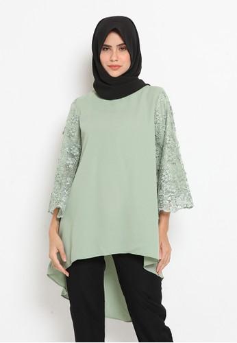 Heart n Feel Muslim green Ellena Tunik Green 73652AAA8656FDGS_1