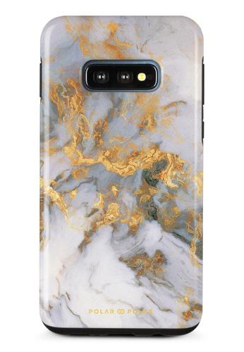 Polar Polar white Mist Marble Samsung Galaxy S10E Dual-Layer Protective Phone Case (Glossy) 9F889AC7B7297BGS_1