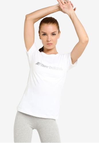 New Balance white Sport Style Optiks Short Sleeve Graphic Tee 49676AAAF1EA9AGS_1