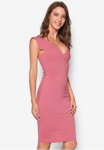 造esprit門市型V 領連身裙, 服飾, 洋裝