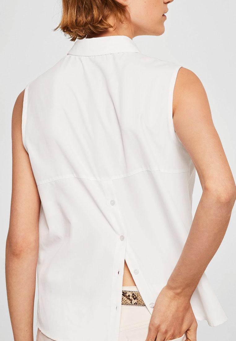 Mango Shirt White Buttons Natural Details rxCSBrwqa