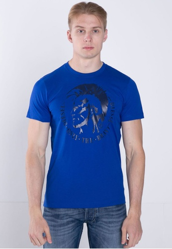 Diesel blue T-HEAD PS MAGLIETTA T-Shirt A3361AAC46593CGS_1