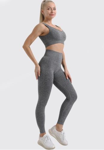 Twenty Eight Shoes grey VANSA Pure Color Vest Yoga Set  VPW-Y555 A2821AAE814217GS_1