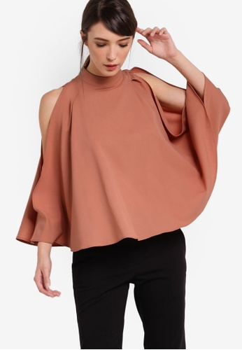 ZALORA orange Collection Flared Sleeves Top F288FAAB4D5481GS_1
