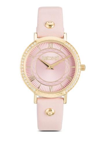 R7251527502 Jc Hour 閃鑽皮革圓錶, 錶類, 飾品esprit macau配件