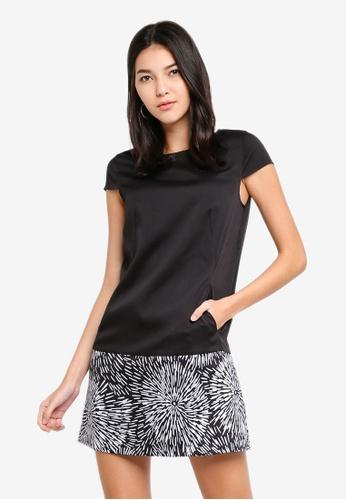 ZALORA black and multi A-Line Block Panel Dress 16297AA2561AAEGS_1