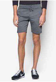 Contoured Printed Line Sweatshorts