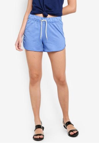 LC Waikiki 藍色 抽繩短褲 4C72BAA8D08BBEGS_1