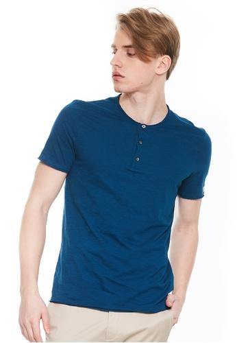 Sisley blue Short Sleeves T-shirt 9E520AA47A2B1DGS_1