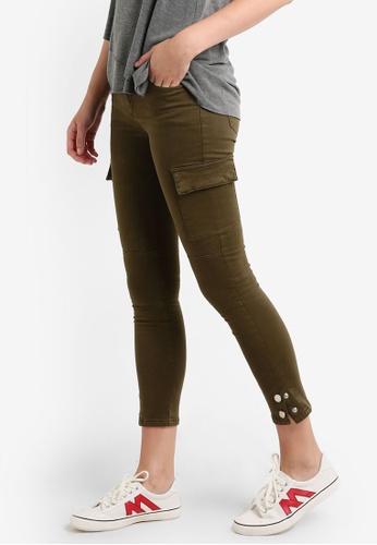 Mango green Cotton Cargo Trousers MA193AA0RAV5MY_1