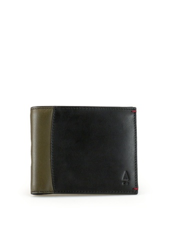 Gnome and Bow black and brown and green Treville Billfold 41A2FACD1C5688GS_1