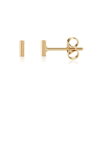 Glamorousky silver Fashion Simple Plated Gold Letter I Stud Earrings AF0EAACD366B31GS_1