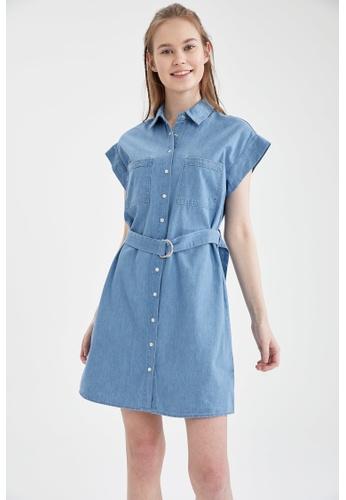 DeFacto 藍色 Denim Dress 17A57AAADA00CBGS_1