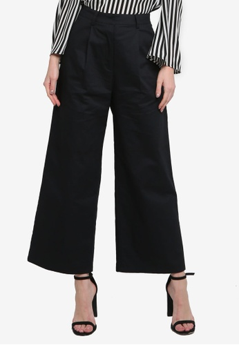 ZALORA WORK black Wide Leg Tailored Pants 9C084AA9E1998DGS_1