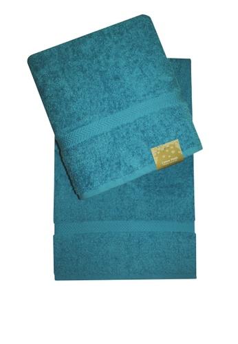Cotton Fields blue Cotton Fields Bath Towel Plain D56DAHL14AC701GS_1