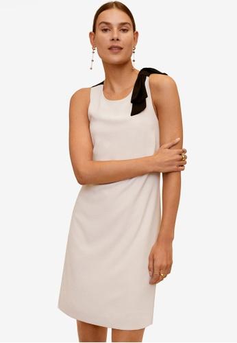 Mango beige Contrast Detail Dress FCE76AA0471737GS_1